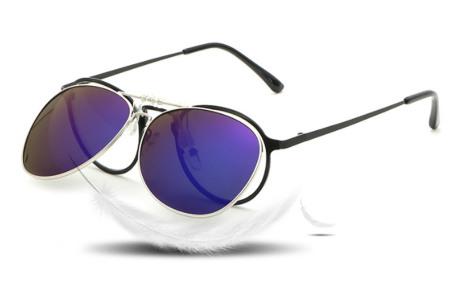 Clip-on aviator zonnebril | Van gewone bril naar zonnebril dankzij handig clipsysteem