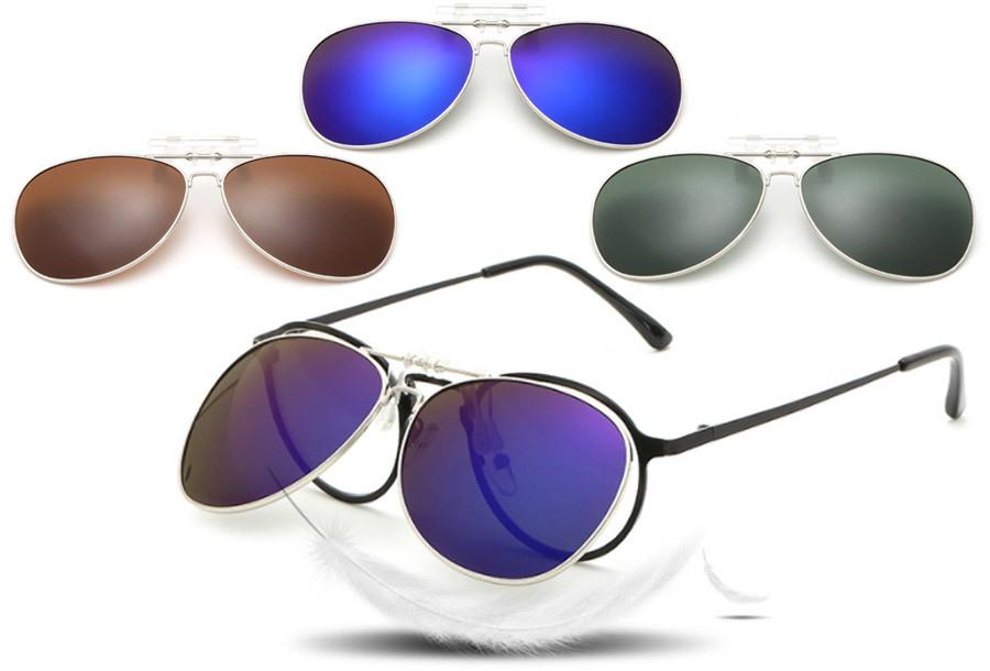 Clip-on aviator zonnebril nu voor een spotprijs