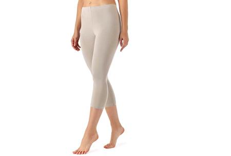 Driekwart legging | Comfortabele dameslegging voor fitness, onder een jurk of gewoon als broek Beige