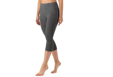 Driekwart legging | Comfortabele dameslegging voor fitness, onder een jurk of gewoon als broek Donkergrijs