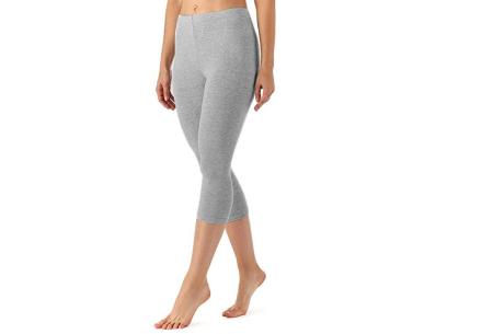 Driekwart legging | Comfortabele dameslegging voor fitness, onder een jurk of gewoon als broek Grijs