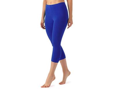 Driekwart legging | Comfortabele dameslegging voor fitness, onder een jurk of gewoon als broek Kobaltblauw