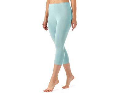 Driekwart legging | Comfortabele dameslegging voor fitness, onder een jurk of gewoon als broek Lichtblauw