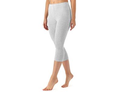 Driekwart legging | Comfortabele dameslegging voor fitness, onder een jurk of gewoon als broek Lichtgrijs