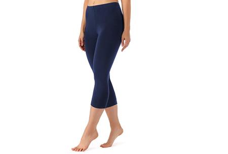 Driekwart legging | Comfortabele dameslegging voor fitness, onder een jurk of gewoon als broek Navy