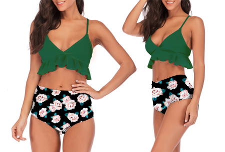 High waist ruffle bikini | Dé badmode van deze zomer in 7 prints #C