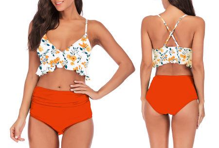 High waist ruffle bikini | Dé badmode van deze zomer in 7 prints #E