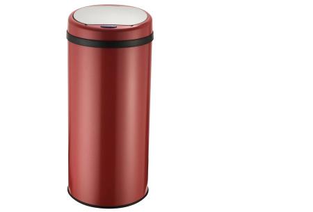 O'Daddy sensor prullenbakken | Volautomatische vuilnisbakken met infraroodsensor rond rood