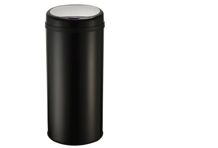 O'Daddy sensor prullenbakken | Volautomatische vuilnisbakken met infraroodsensor rond zwart