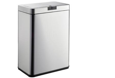 O'Daddy sensor prullenbakken | Volautomatische vuilnisbakken met infraroodsensor vierkant rvs