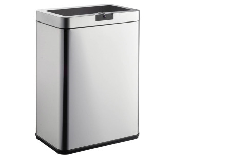 O'Daddy sensor prullenbakken | Volautomatische vuilnisbakken met infraroodsensor vierkant rvs/zwart
