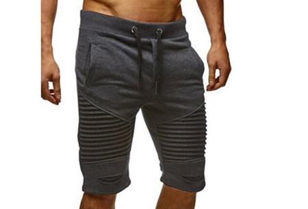 Korte joggingbroek voor heren | Heerlijk comfortabele shorts voor een stoere look Donkergrijs