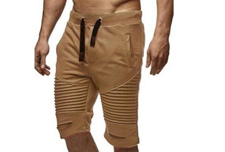 Korte joggingbroek voor heren | Heerlijk comfortabele shorts voor een stoere look Khaki