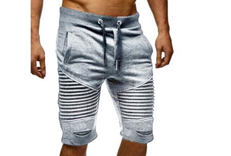 Korte joggingbroek voor heren | Heerlijk comfortabele shorts voor een stoere look Lichtgrijs