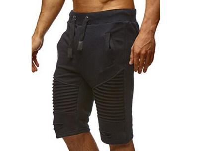 Korte joggingbroek voor heren | Heerlijk comfortabele shorts voor een stoere look Zwart