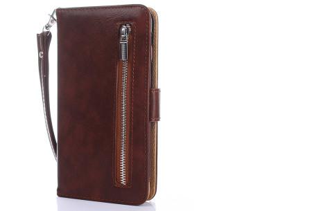 Telefoonhoesje 2-in-1 met magneet | Handige 2-delige smartphonecase voor iPhone & Samsung toestellen donkerbruin