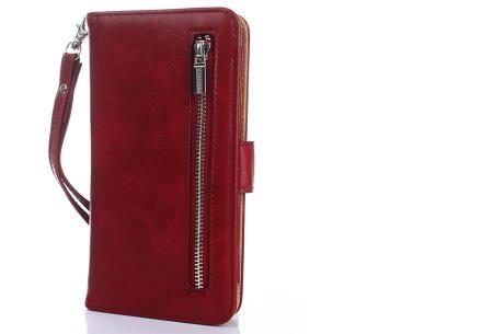 Telefoonhoesje 2-in-1 met magneet | Handige 2-delige smartphonecase voor iPhone & Samsung toestellen wijnrood