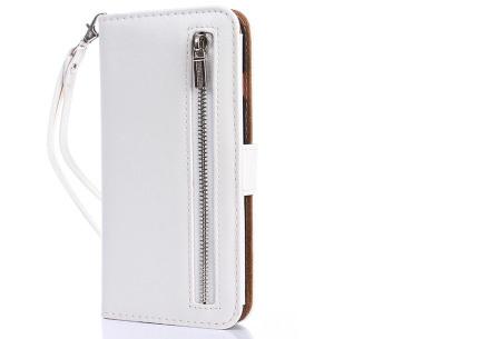 Telefoonhoesje 2-in-1 met magneet | Handige 2-delige smartphonecase voor iPhone & Samsung toestellen wit