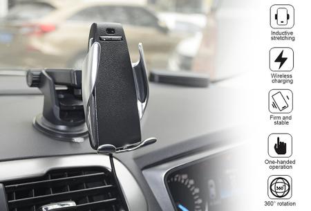 Draadloze auto telefoonlader en -houder heel voordelig in de aanbieding