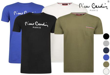 Pierre Cardin heren T-shirts nu in de sale met korting
