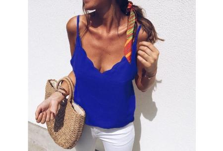 V-neck tanktop | Musthave damestop voor iedere gelegenheid Blauw