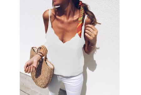 V-neck tanktop | Musthave damestop voor iedere gelegenheid Wit