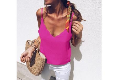 V-neck tanktop | Musthave damestop voor iedere gelegenheid Roze
