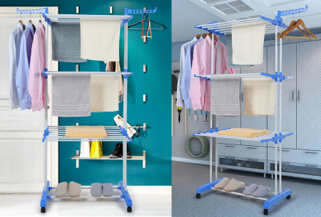 XXL opvouwbaar wasrek van Herzberg | Handig droogrek met ruimte voor al je wasgoed