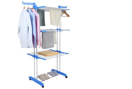 XXL opvouwbaar wasrek van Herzberg | Handig droogrek met ruimte voor al je wasgoed blauw