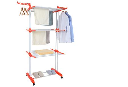 XXL opvouwbaar wasrek van Herzberg | Handig droogrek met ruimte voor al je wasgoed oranje