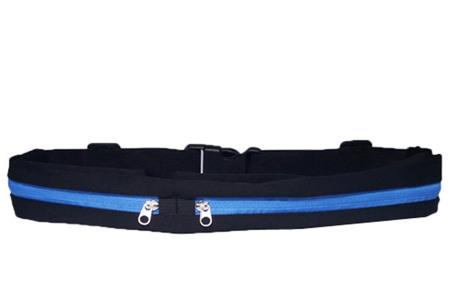 Sportriem met opbergvakken   Handig fitness heuptasje voor o.a. je telefoon, sleutels, etc. blauw