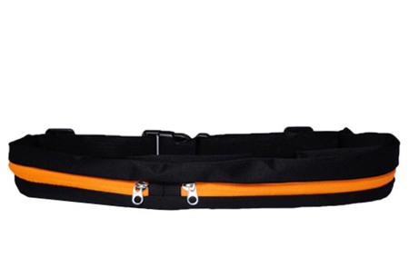 Sportriem met opbergvakken   Handig fitness heuptasje voor o.a. je telefoon, sleutels, etc. oranje