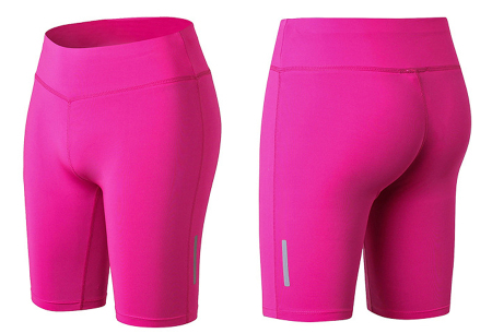 Fietsbroekje | Korte legging voor dames om in te sporten of te dragen als short Roze