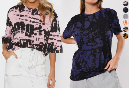 Tie-dye dames T-shirt in de sale met 50% korting