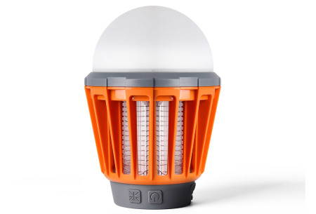 2-in-1 anti-muggenlamp | Draadloze insecten- & campinglamp in één