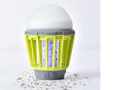 2-in-1 anti-muggenlamp | Draadloze insecten- & campinglamp in één groen