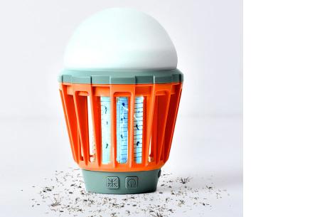 2-in-1 anti-muggenlamp | Draadloze insecten- & campinglamp in één oranje