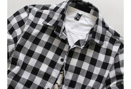 Houthakkers blouse voor heren | Geblokt overhemd met korte mouwen