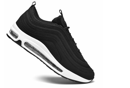 Wave Air damessneakers | Trendy & sportieve schoenen met ultieme demping zwart/wit