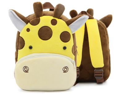 Kinderrugzak met dier + GRATIS drinkbeker | Schattige schooltas voor kinderen - keuze uit 15 dieren giraffe