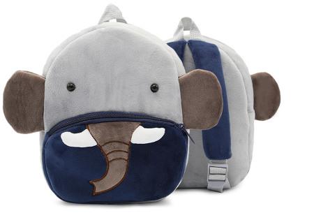 Kinderrugzak met dier + GRATIS drinkbeker | Schattige schooltas voor kinderen - keuze uit 15 dieren olifant