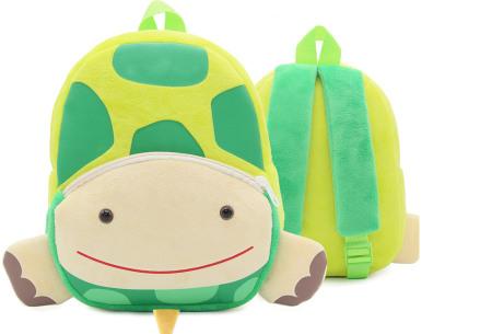 Kinderrugzak met dier + GRATIS drinkbeker | Schattige schooltas voor kinderen - keuze uit 15 dieren schildpad