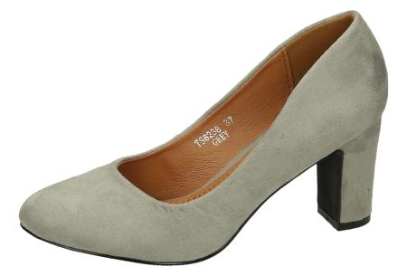 Comfy pumps met suède look | Basic musthave hakken voor iedere dame Grijs