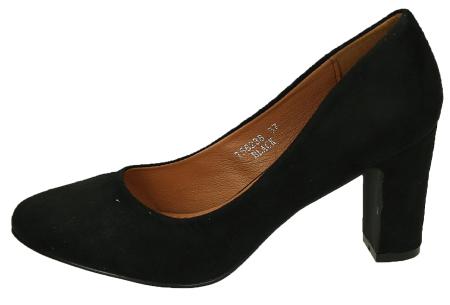 Comfy pumps met suède look | Basic musthave hakken voor iedere dame Zwart