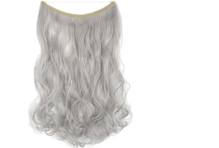 Wire hairextensions met krullen | Lang, vol en gekruld haar in een handomdraai! In 22 kleuren Silver grey