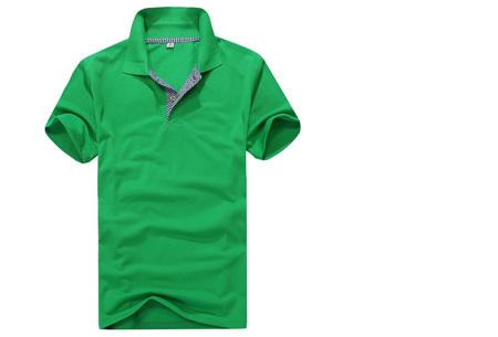 Polo's voor heren - #2 - Groen - Maat L/XL
