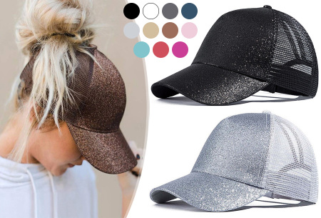 High ponytail pet met glitter nu in de sale met korting