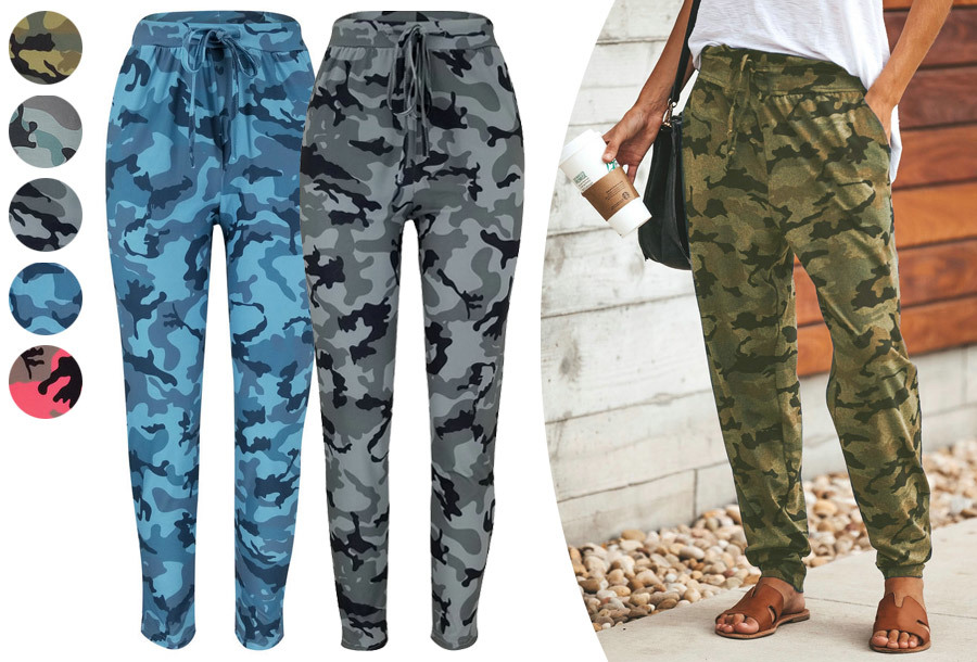 Legerprint damesbroek nu heel voordelig <br/>EUR 14.99 <br/> <a href='https://tc.tradetracker.net/?c=24550&m=1018105&a=230468&u=https%3A%2F%2Fwww.vouchervandaag.nl%2Flegerprint-damesbroek-joggingbroek-dames-camouflage-army' target='_blank'>bekijk product</a>
