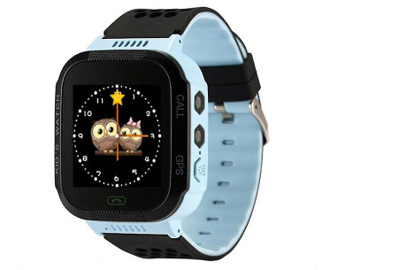 Tracker horloge voor kinderen | Smartwatch met ingebouwde LBS locatie tracker  blauw