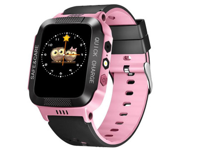 Tracker horloge voor kinderen | Smartwatch met ingebouwde LBS locatie tracker  roze
